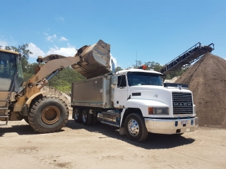 Gold Coast Tipper Hire Trucks available 24/7 on request call Gold Coast Gravel and Soil Today