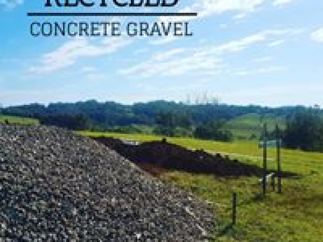 Recycled Concrete products available 6 days a week delivered to your site, inquire today.